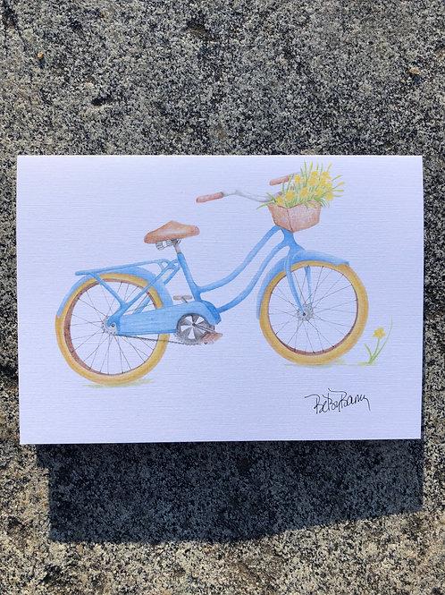 Blue Bike notecard