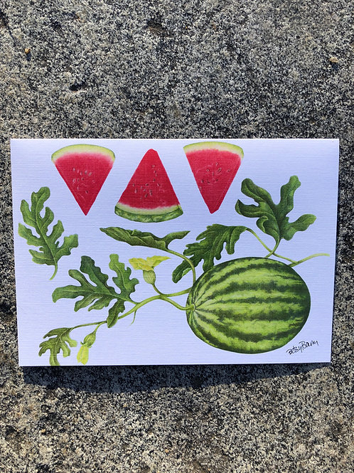 Watermelon notecard