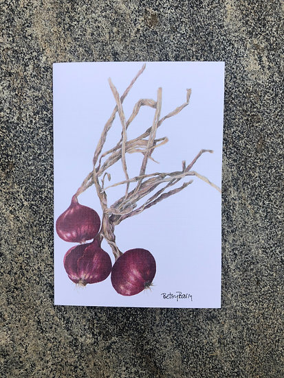 Red Onions Notecard