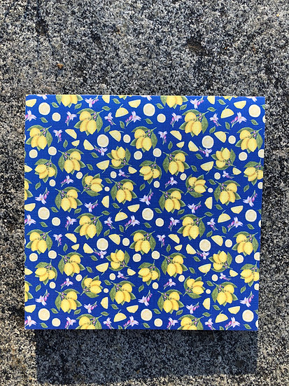 Lemons on Blue notecard