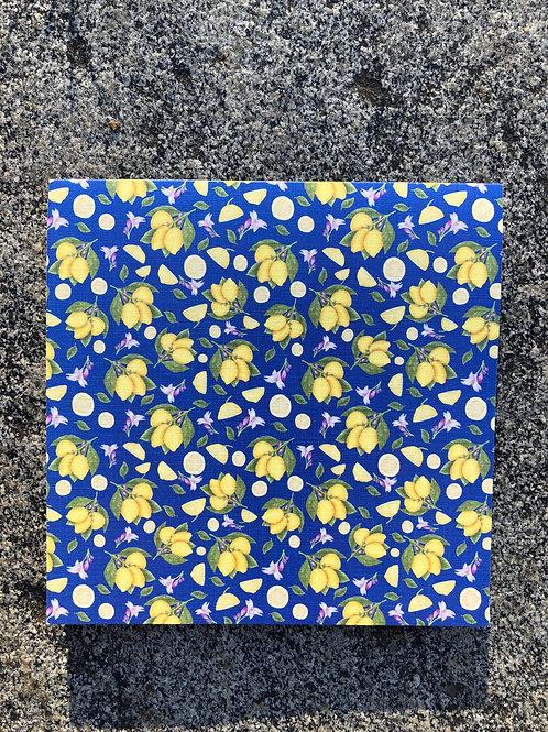 Lemons on Blue notecard