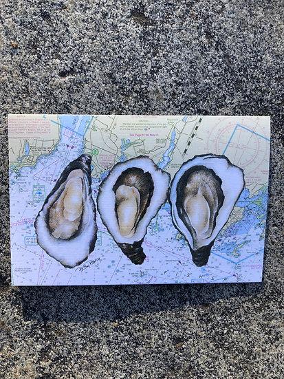 Oyster & Chart Notecard