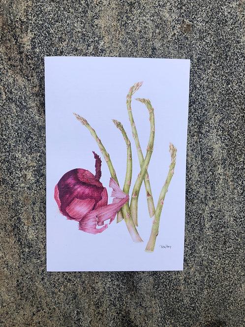 Asparagus & Onion Notecard