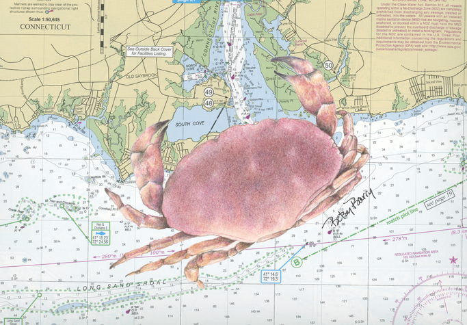 Red crab & Chart