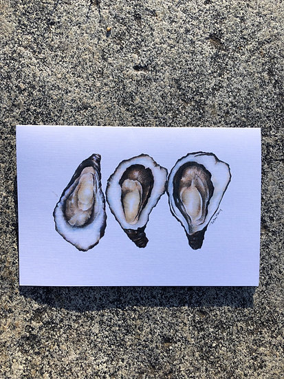 Oysters Notecard
