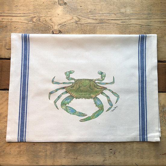 Blue Crab Flour Sack Towel