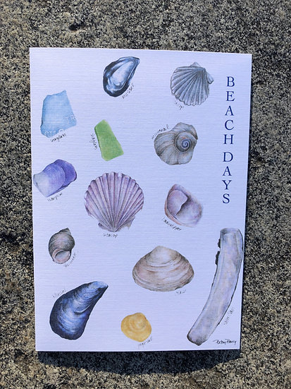 Beach Days Notecard