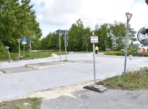 Kreisel in Hogenbögen ist für Radfahrer wieder freigegeben