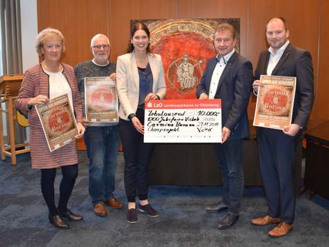 LzO sponsert Chorprojekt Carmina Burana mit 10.000 Euro