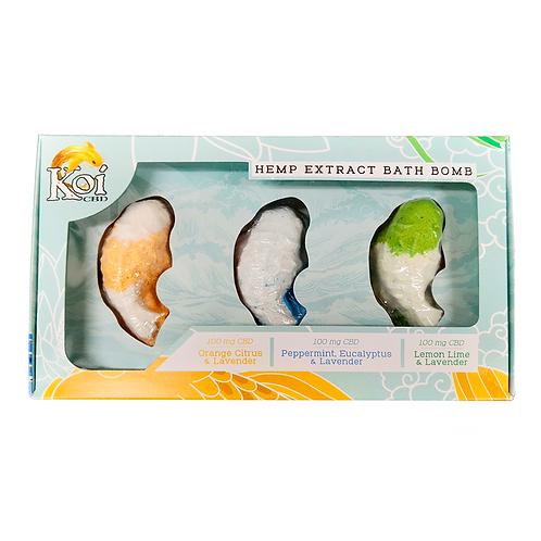 Koi Hemp Extract CBD Bath Bomb 3 Pack