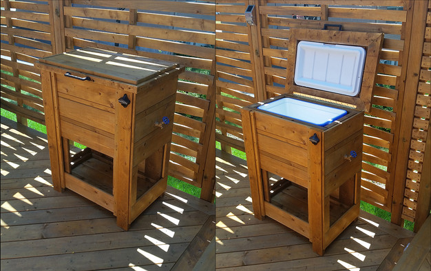 Summer is upon us, as the heat wave continues, I find more and more people  enjoying their pools and patios. So, in spirit of the season I thought I'd  post ... - Patio Cooler Stand Hand Crafted By Chris Palmer