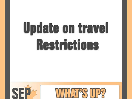 Update on travel restriction exemptions for extended family members!