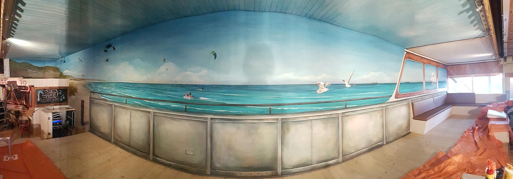 Wandschildering 'Noordzee'