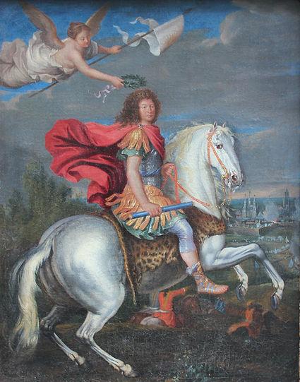 Portrait équestre Louis XIV école française vers 1700