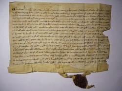 charte parchemin sceau Corbeil 1258