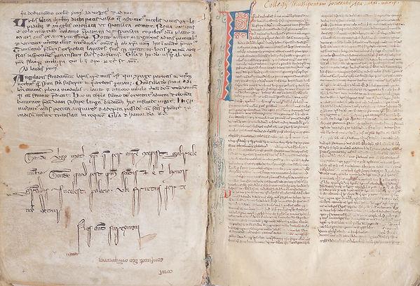 Bible manuscrite enluminée XIIIe siècle (13e siècle), Paris, Pont à Mousson