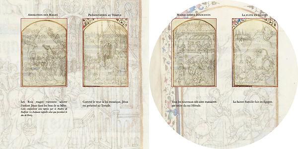 Heures Limbourg enluminures Limburg Hours manuscript