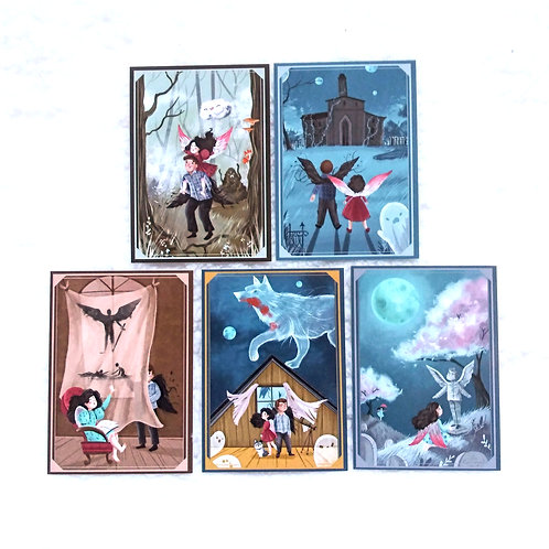 Legend of the Storm Sneezer Trading Cards (Set of 5)
