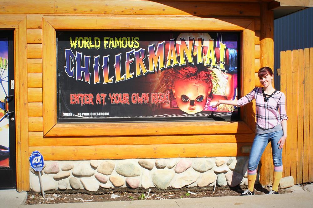 Chillermania sign + author