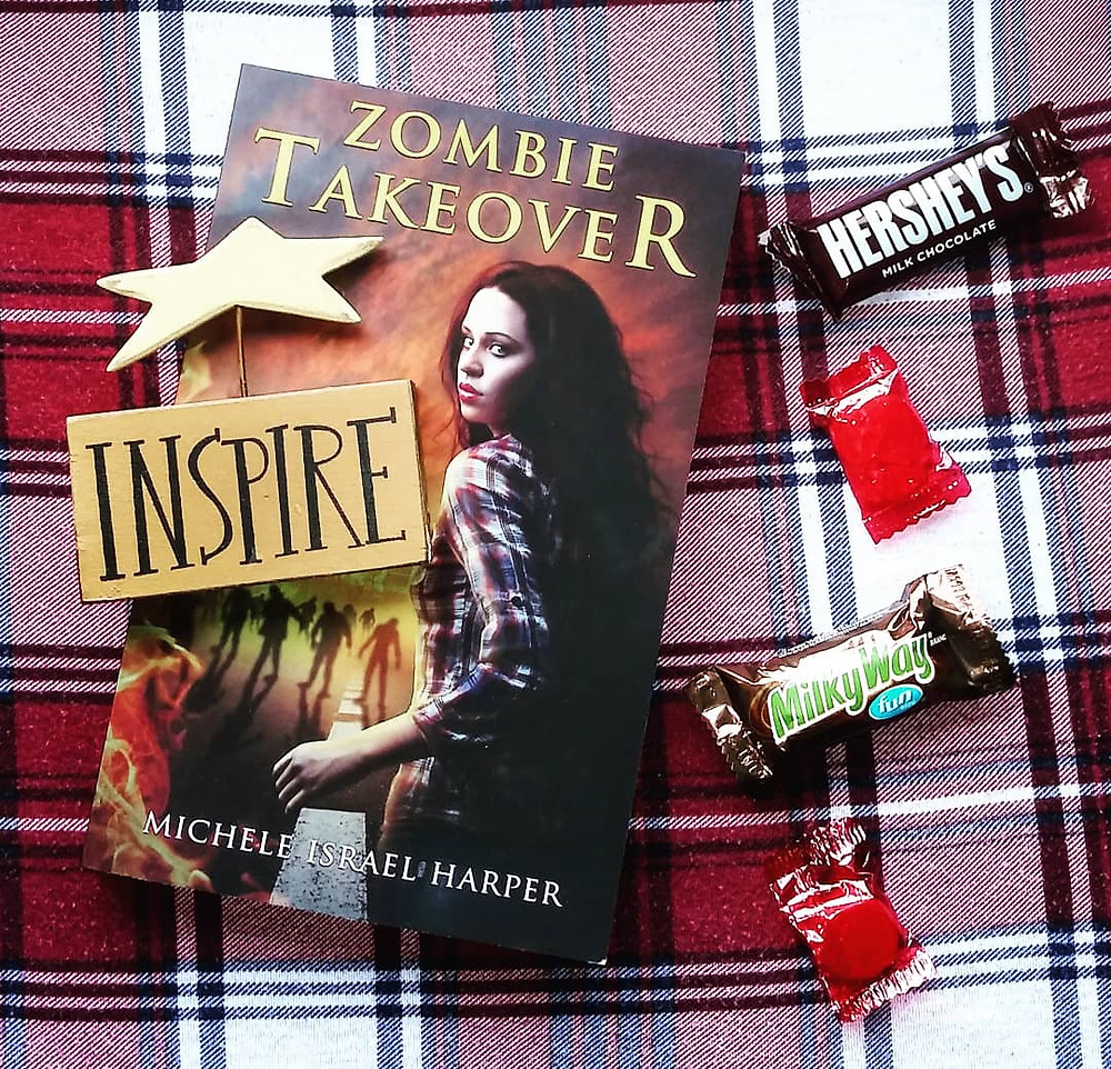 book zombie takeover hershey milkyway and cinnamon candy