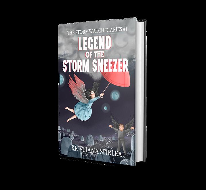 Spooky middle grade fantasy novel Legend of the Storm Sneezer book cover