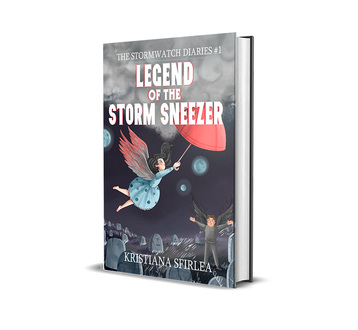 Spooky middle grade fantasy novel Legend of the Storm Sneezer book cover