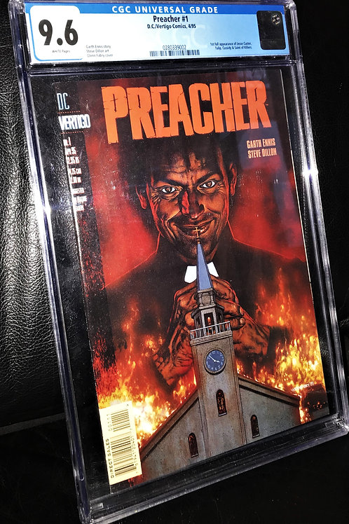 Preacher #1 CGC Graded 9.6 White pages