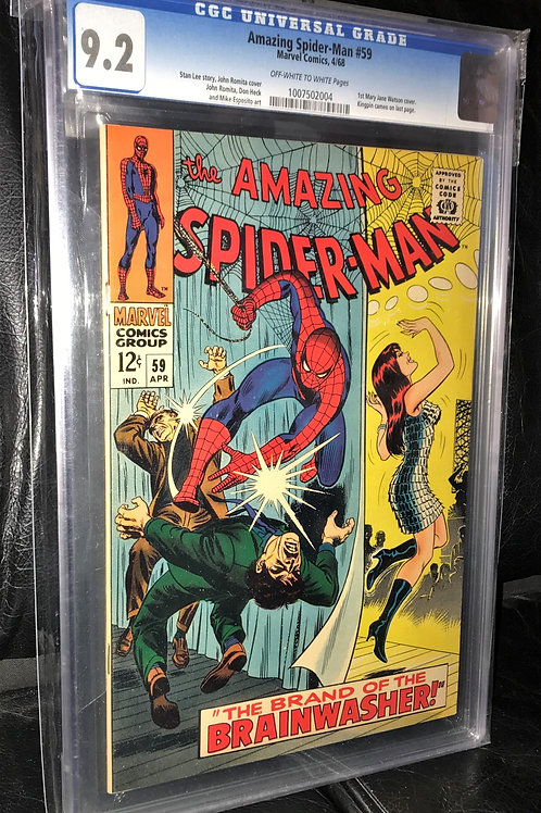 Amazing Spider-Man #59 CGC Graded 9.2 Off-White to White Pgs.