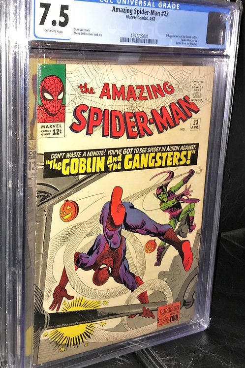 Amazing Spider-man #23 CGC Graded 7.5 Off-White Pages