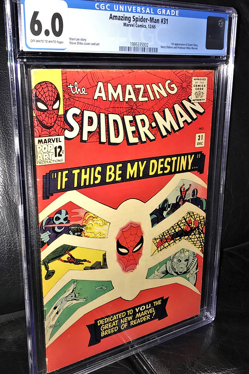 Amazing Spider-Man #31 CGC Graded 6.0 Off-White to White Pgs.