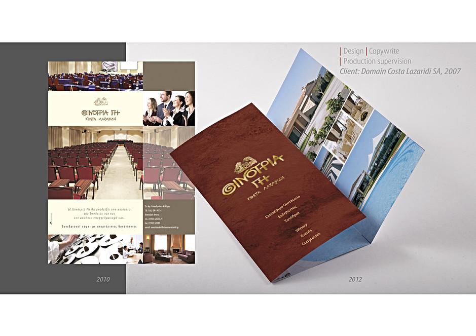 Trifold brochure + ad Oenotria Land