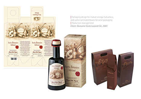 Label and packaging design
