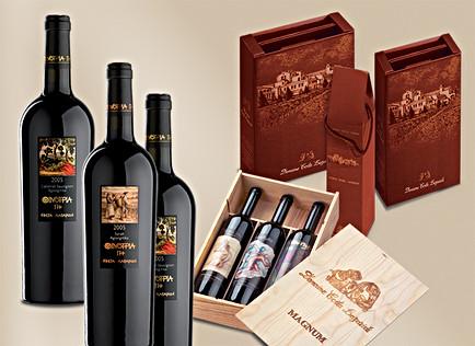 Label design for Oenotria Land and boxes for Domaine Costa lazaridi SA