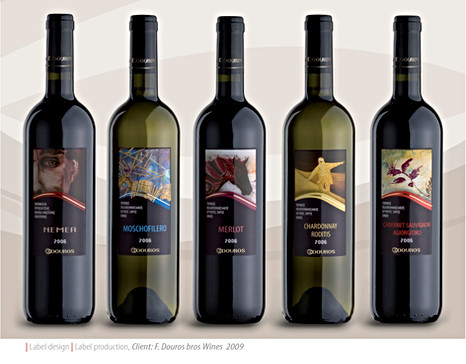 Douros wines product line packaging design