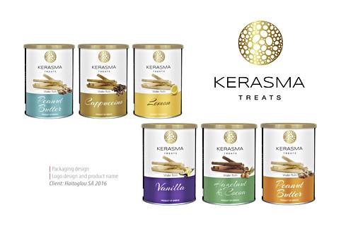 Kerasma, name, logo and packaging design