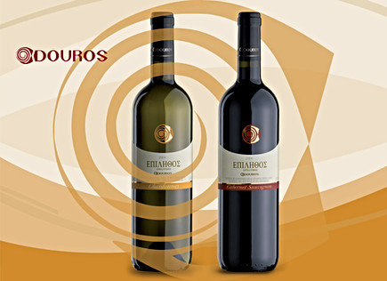 "Douros wines product line ""Epilithos"" packaging design"