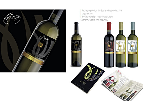 Label and brochure design for Gotsis winery