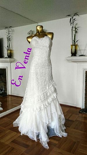 vestido de novia usado Pronovia