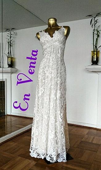 vestido de novia usado Macarena Cortés