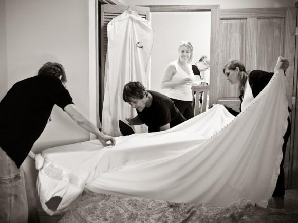 Planchado de vestidos de novia