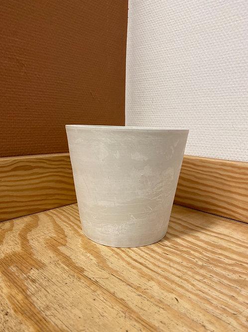 POT BLANC CASSÉ (plastique recyclé)