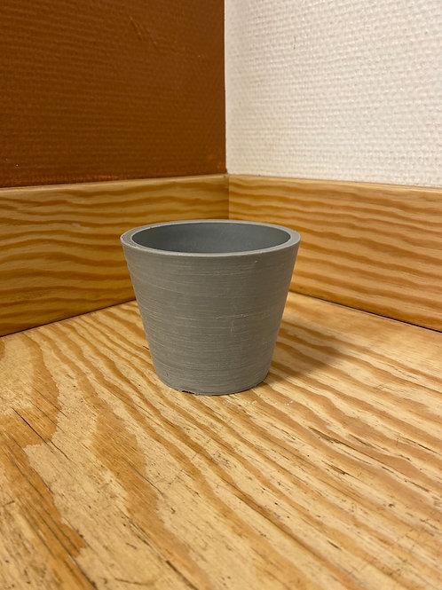 POT GRIS CLAIR (plastique recyclé)