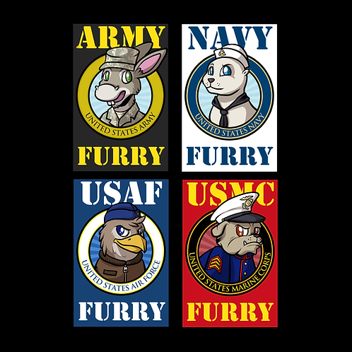 Furry and Brony Military Badges