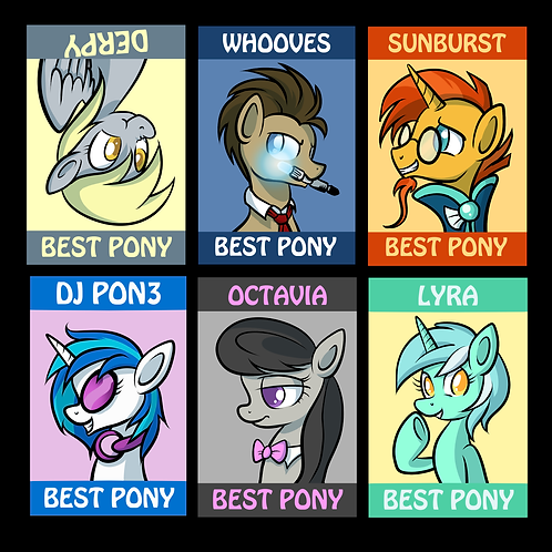 Pony Badges - Ponyville Friends