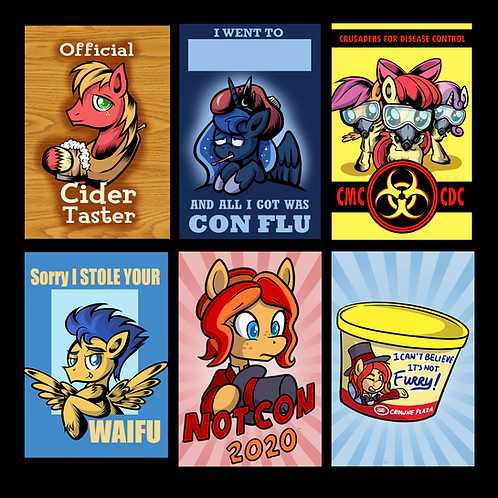 Classic and Seasonal Pony Con Badges