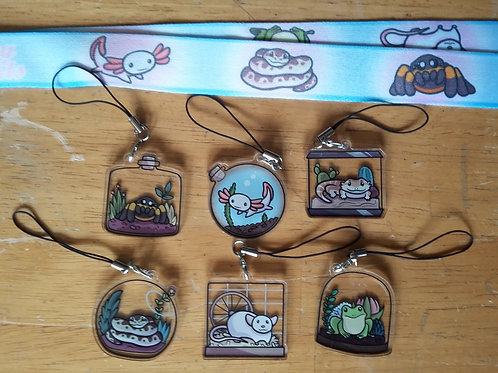 Little Pets Charms and Lanyard