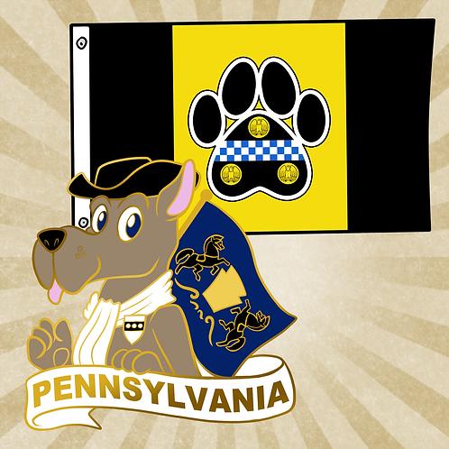 Pittsburgh Flag & Pennsylvania Pin Combo