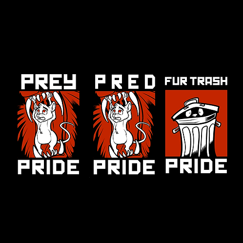 Prey, Pred, and Trash Pride Badges