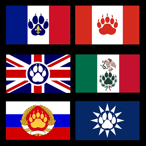 Furry Country Flags