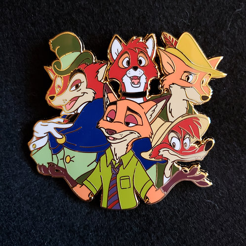 Disney Foxes Cluster Pin